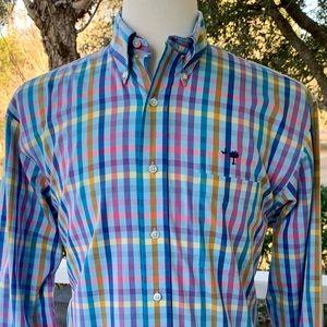 M. Dumas Multi-Colored L/S Checked Shirt. Medium